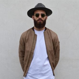jacket bomber jacket beard menswear hipster menswear mens jacket mens fedora mens bomber jacket