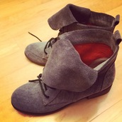 shoes,boots,suede boots,lace up ankle boots,mabell