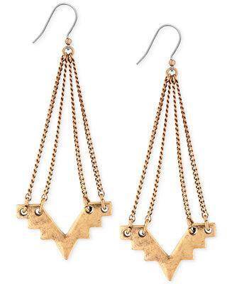 Lucky brand geometric chandelier earrings jewelry for Macy s lucky brand jewelry