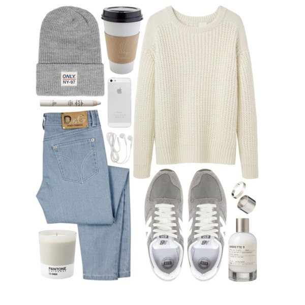 sweater jeans trainers jumper knitwear hat shoes