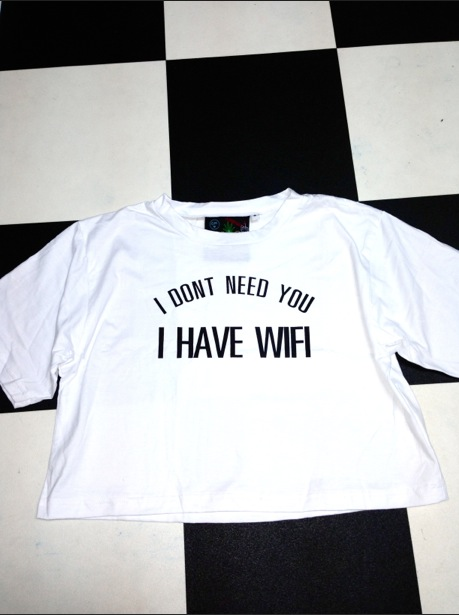 Sweet lord o'mighty! i only need wifi crop tee
