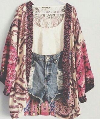 cardigan burgundy boho kimono maron trendy
