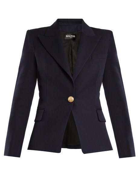 Balmain blazer wool navy jacket