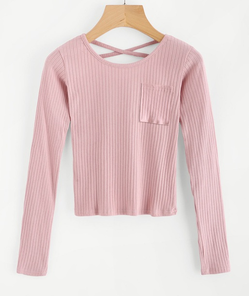 blouse girly pink crop tops crop cropped long sleeves