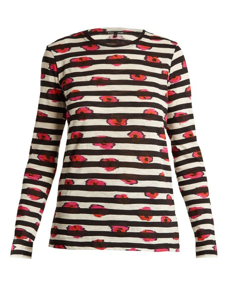 t-shirt shirt cotton t-shirt t-shirt long cotton print top
