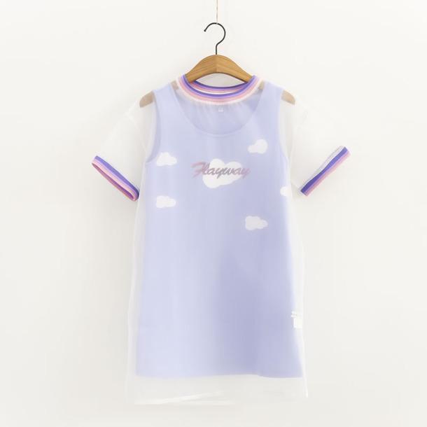 fe05ed259afe1 shirt tank top lilac clouds pastel purple pastel goth pastel grunge kawaii  kawaii grunge kawaii cloting