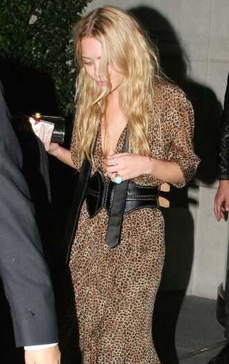 dress leopard print mary kate olsen animal print