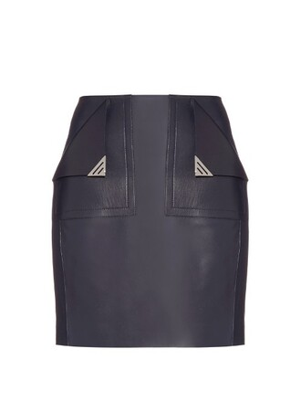 skirt mini skirt mini leather navy
