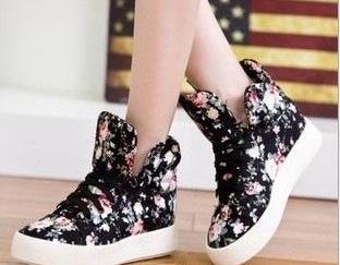 Floral Shoes Soled Platform Shoes H..