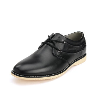 shoes black casual shoes lace up round toe genuine leather low top sneakers mens shoes fashion flats mens derby shoes