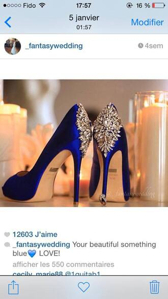 shoes blue heels blue wedding accessory
