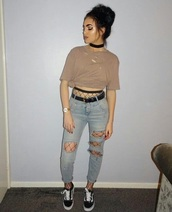 shirt,fishnet tights,ripped,tumblr