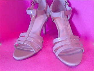 shoes sandal heels beige shoes