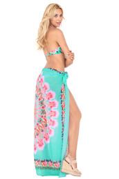 swimwear,cover up,print,floral,luli fama,luxury,bikiniluxe