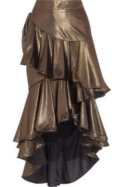 Johanna Ortiz skirt maxi skirt maxi gold