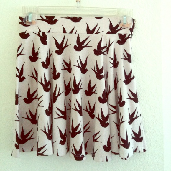 H&M - Birds skater skirt. from Elizabeth's closet on Poshmark