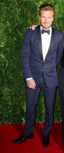 navy david beckham mens suit menswear