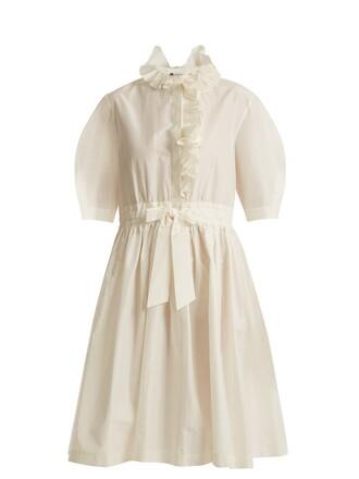 dress ruffle drawstring cotton