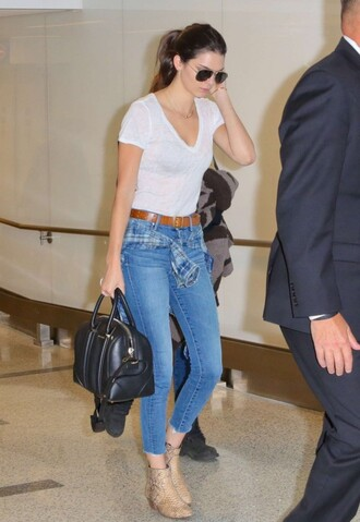 jeans kendall jenner top ankle boots shoes casual