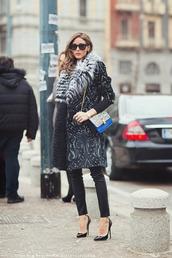 jacket,coat,olivia,print,warm,olivia palermo,sunglasses