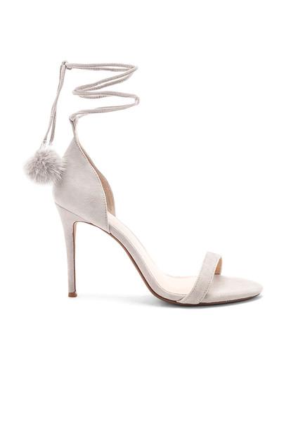 RAYE heel fur shoes