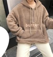 jacket,tumblr,brown,sherpa fleece,fleece jackets,hoodie,jumper,sweatshirt,sweater,zip