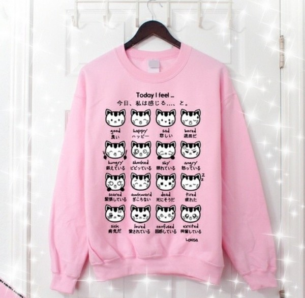 kawaii pink cats alternative scene emo