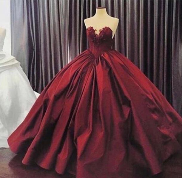 42076361f9 dress red dress dark red red long dress clothes prom dress prom gown cute  dress cute
