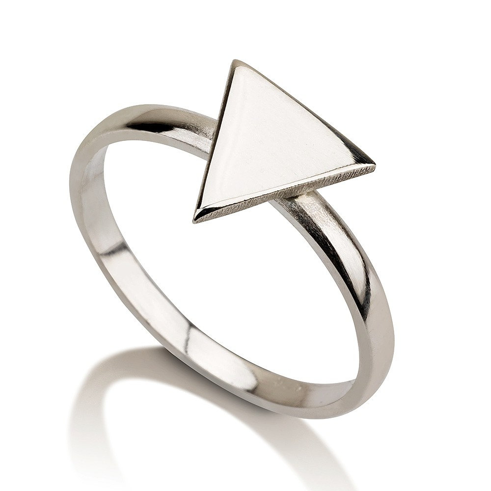 Sterling silver egyptian triangle ring