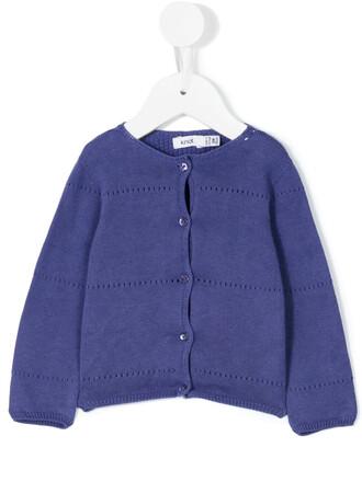 cardigan cotton blue sweater
