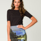 Motel becka bodycon skirt in mountain print