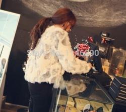 Fashion faux manteau de fourrure de lapin cheveux court manteau chaud moelleux outwear veste bouton dans de sur aliexpress.com