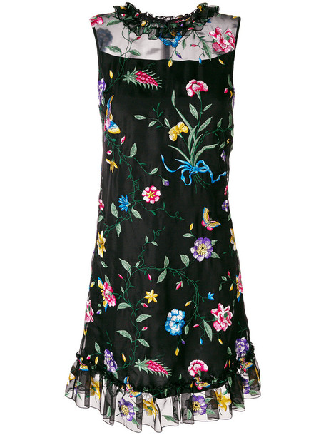 dress embroidered women floral silk