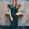 Av fitted office dress - green