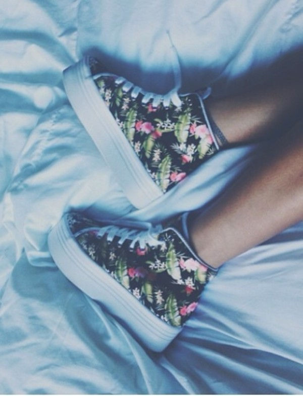 shoes floral high top sneakers platform shoes platform shoes sneakers