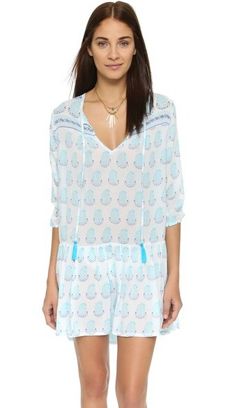 tunic beach aqua top