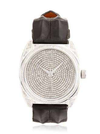 watch white black jewels