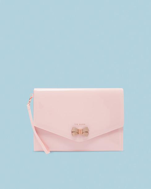bow mini pale pouch pink bag