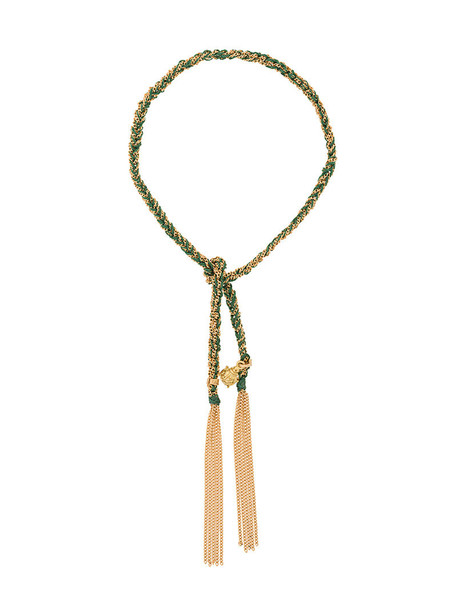 Carolina Bucci women gold silk yellow grey metallic jewels