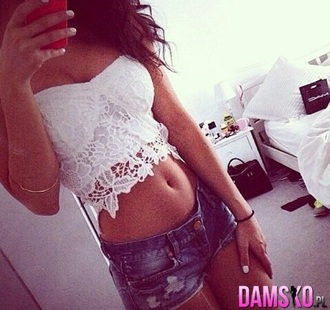 shirt white bustier tube top tank top crop tops lace top