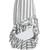 Striped ruffled-hem pencil skirt