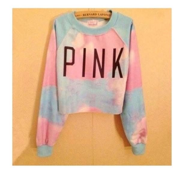 sweater pink tie dye