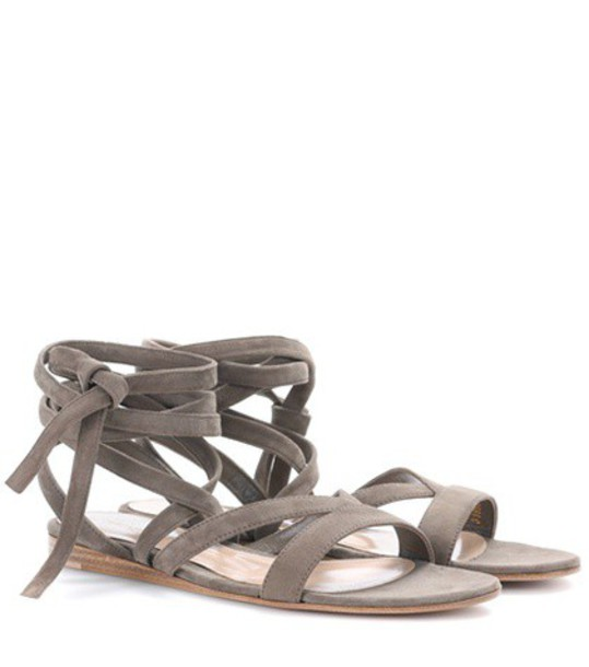 Gianvito Rossi sandals suede beige shoes