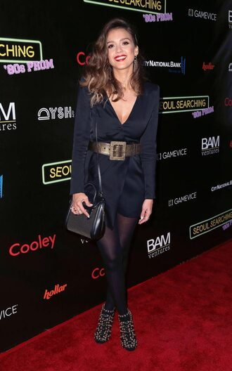 bag purse jessica alba sandals belt mini dress dress black bag handbag