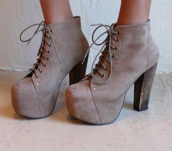 shoes jeffrey campbell high heels grey sand lita boots