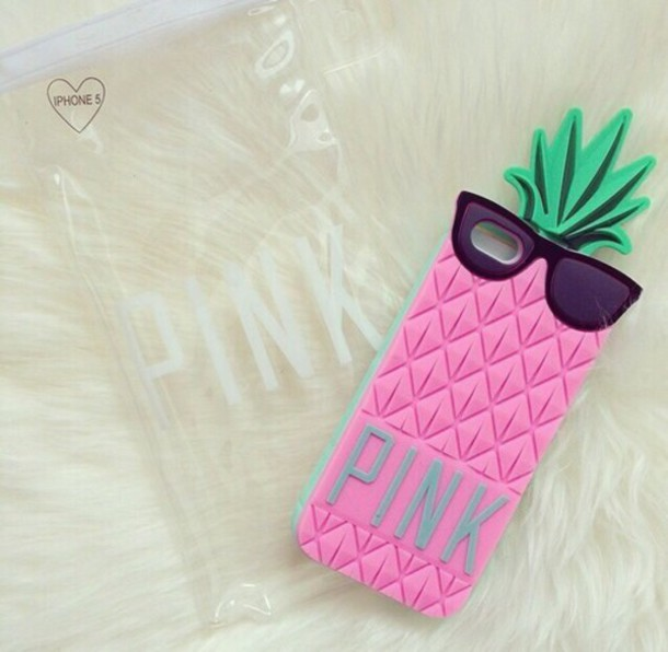 phone cover victoria's secret pink pink by victorias secret pineapple