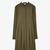 Pleated wool-mix dress