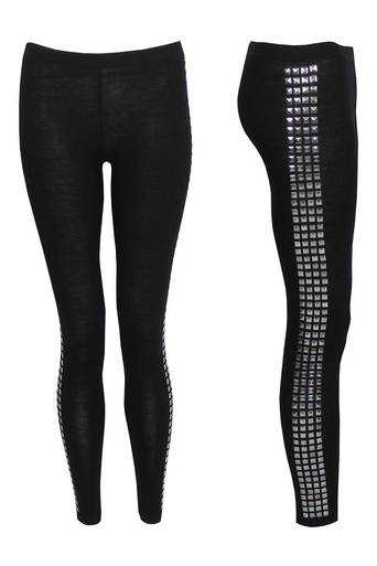 Evangleline Legging with Stud Side Panel - Pop Couture