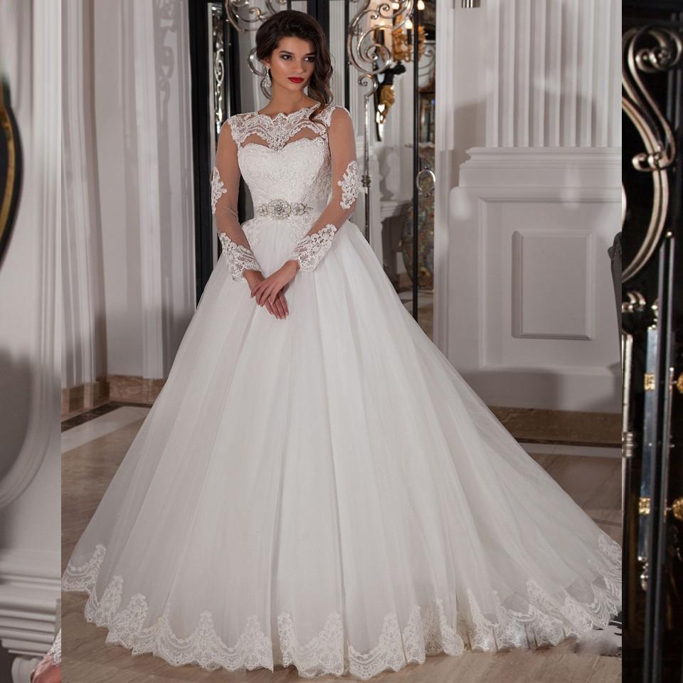 Designer wedding dress real sample sexy long sleeve lace for Designer sample wedding dresses