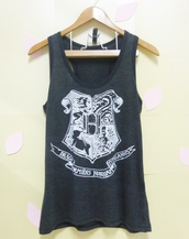 top,hogwarts tank top,harry potter shirt,women tops,singlet,sleeveless top,teen girls tank top